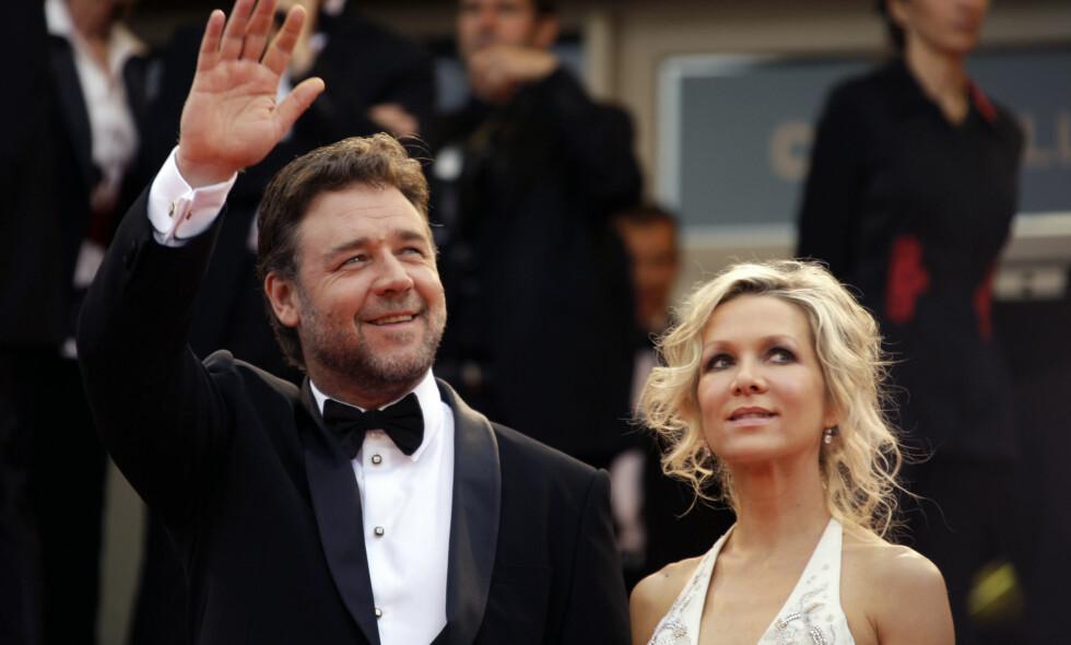 NY ÆRA: Russell Crowe og Danielle Spencer har fått innvilget skilsmissen - seks år etter at de først bestemte seg for å skilles. Foto: NTB Scanpix