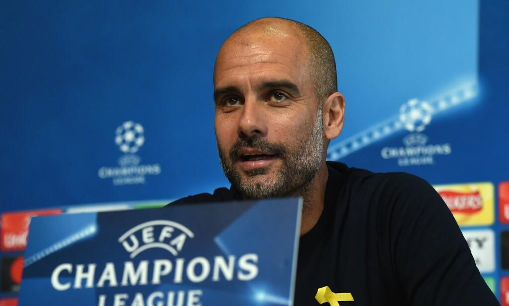 «PERFEKT KAMP»: Manchester City-manager Pep Guardiola sier laget hans må spille en perfekt kamp for å gå videre i mesterligaen. Foto: NTB Scanpix/AFP PHOTO / PAUL ELLIS