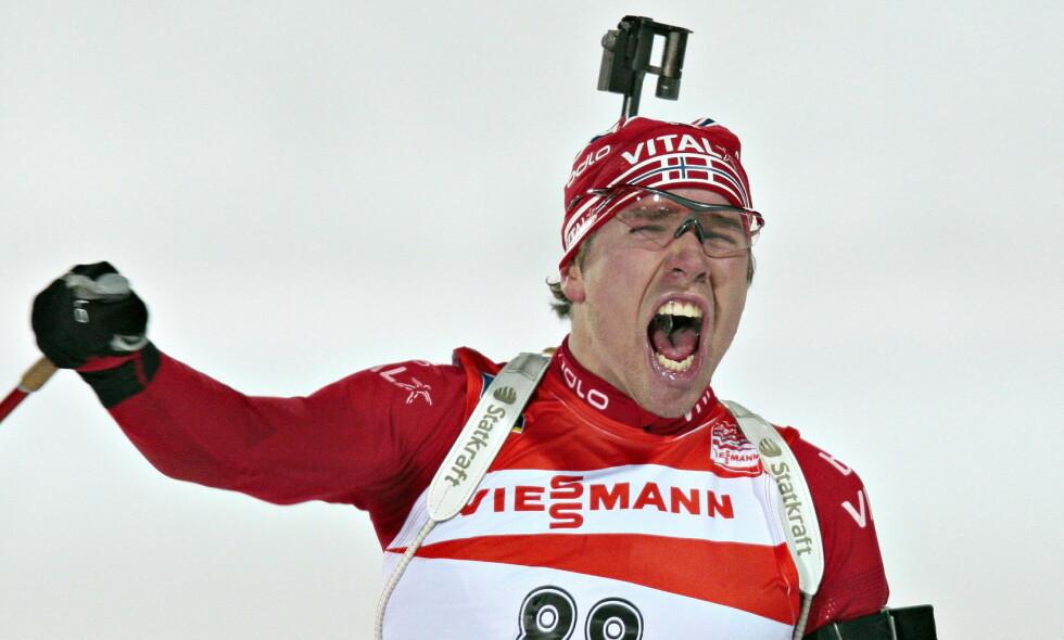 GULLBRØLET: Emil Hegle Svendsen trekker fram gullene i Östersund for ti år siden som en stor opplevelse. Foto: Arnt E. Folvik / Dagbladet.