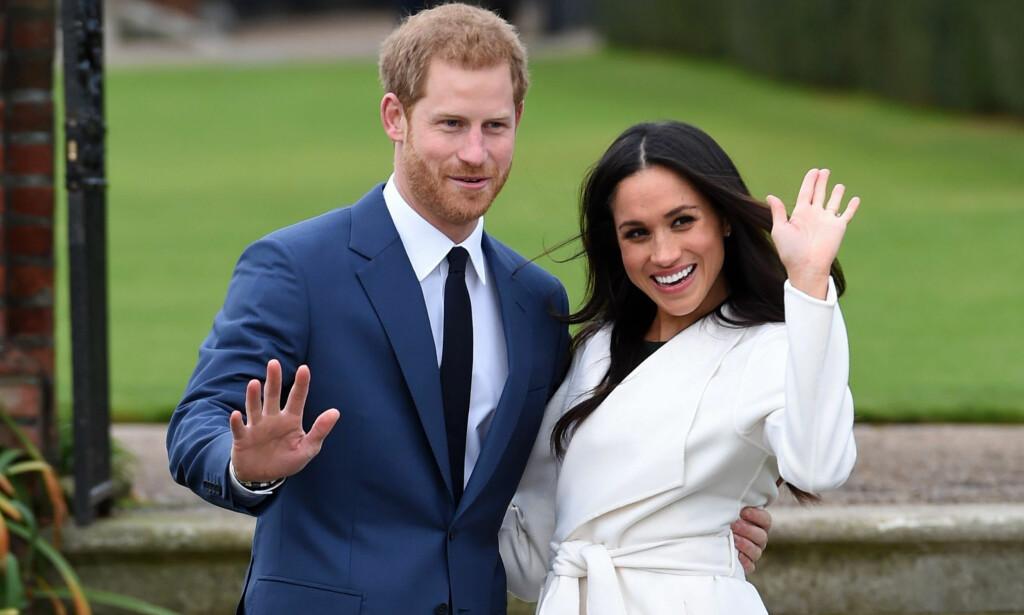BRYLLUPSFEBER: Det er ventet at tusenvis vil møte opp for å få med seg bryllupet til prins Harry og Meghan Markle. Store tv-rekorder er også ventet for bryllupet. Foto: NTB scanpix