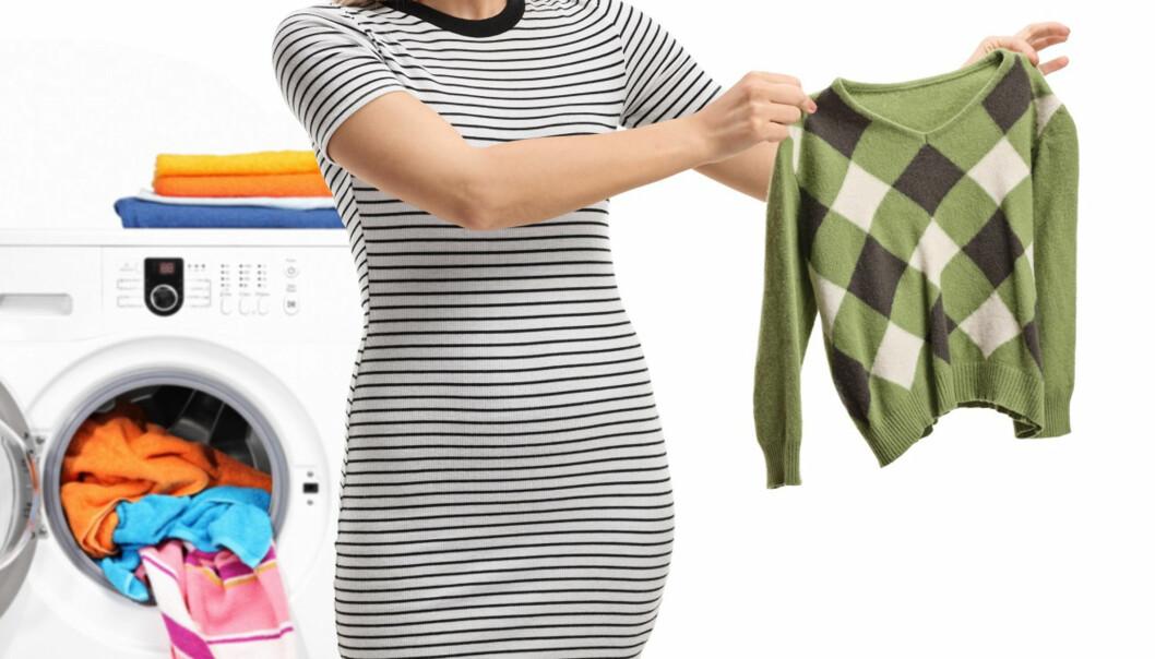 KAN KRYMPET ULL REDDES?: Enkelte ulltyper kan faktisk strekkes tilbake i opprinnelig størrelse hvis det krymper i vask. Få tipsene under! Foto: Scanpix.