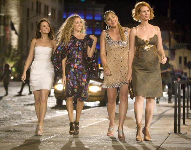 STJERNENE: Disse damene har gjort stor suksess med Sex og singelliv-serien. Fra venstre: Kristin Davis, Sarah Jessica Parker, Kim Cattrall og Cynthia Nixon. Foto: Scanpix