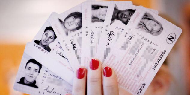 Stort antall førerkort forsvant i 2017
