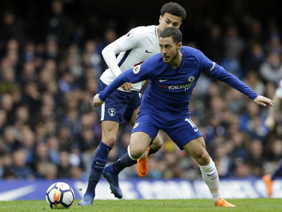 LITE ASSIST: Eden Hazard har bare levert elleve assist på tre sesonger i Premier League. Foto: AP Photo/Alastair Grant/NTB Scanpix