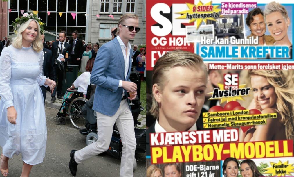 ENORM OPPMERKSOMHET: Forholdet mellom Mette-Marits sønn Marius Borg Høiby og modell Juliane Snekkestad har fått bred omtale den siste tiden. Nå vekker saken også internasjonal oppmerksomhet. Foto: NTB Scanpix / Faksimile