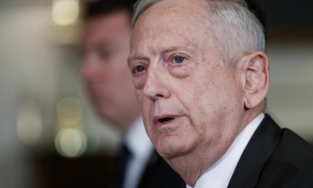 USAs forsvarsminister Jim Mattis. Foto: AP / NTB scanpix