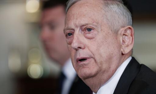 MATTIS: Forsvarsminister James Mattis understreker overfor CNN at USA ikke bistår Saudi-Arabia med råd eller informasjon om mulige må. Foto: AP / NTB scanpix