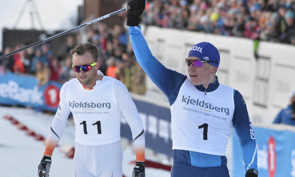 I FORM: Petter Northug er i fin form om dagen. Kun Alexander Bolsjunov kom foran Northug i Trondheim Skishow. Foto: Ned Alley / NTB scanpix