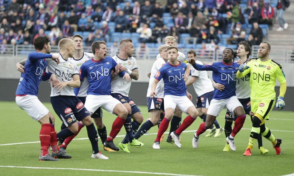 FEIDE OVER VÅLERENGA: Strømsgodset vant 4-1 på Intility Arena sist lørdag. Foto: Berit Roald / NTB scanpix