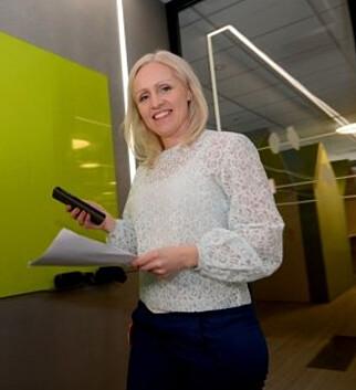 SENDTE SMS: Vinneransvarlig Ingrid Roterud Mathisen i Norsk Tipping fikk heller ikke torsdag formiddag svar da hun ringte 319-millionersvinneren, men hun fikk en sms. Foto: Norsk Tipping