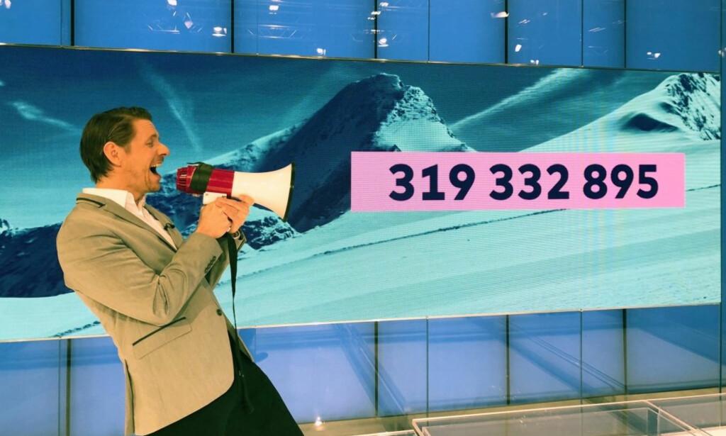 MILLIONPREMIE: Mannen som har vunnet 319 millioner Vikinglotto-kroner har fortsatt ikke besvart Norsk Tippings telefoner. Foto: Norsk Tipping