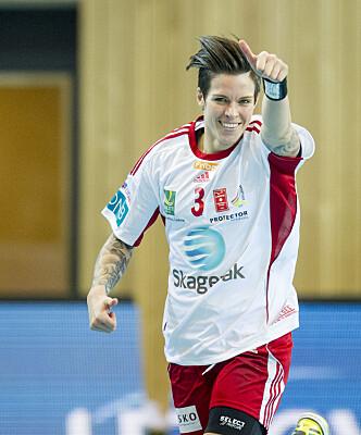 Anja Hammerseng-Edin gjorde stor suksess på banen sammen med Larvik-laget. Foto: Scanpix