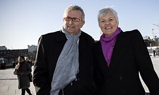 SMILENDE OG BLID: Valgerd Svarstad Haugland sammen med sin ektemann, Geir. Foto: Tomm W. Christiansen