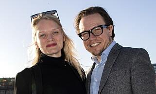 OVERTAR: Ekteparet Karianne Jæger og Atle Halstensen driver den gamle operaen i Folketeaterbygget. Vi overtar gjerne den nye, også, spøker Halstensen. Foto: Tomm W. Christiansen
