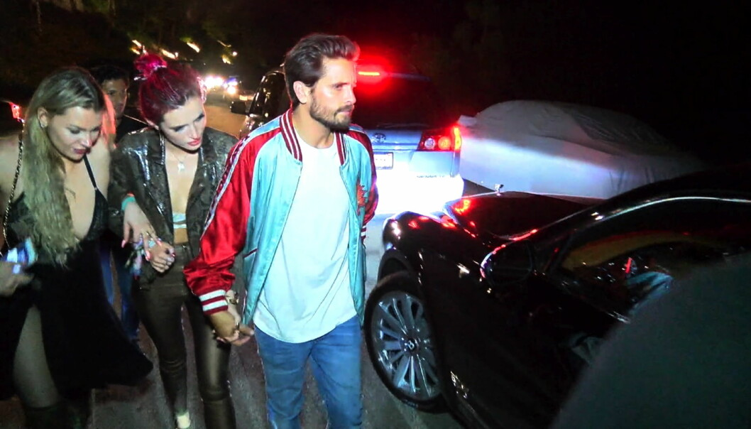 SJOKKPAR: Bella skapte store overskrifter da hun en kort periode datet Kourtney Kardashians ekskjæreste, Scott Disick. Foto: Splash News
