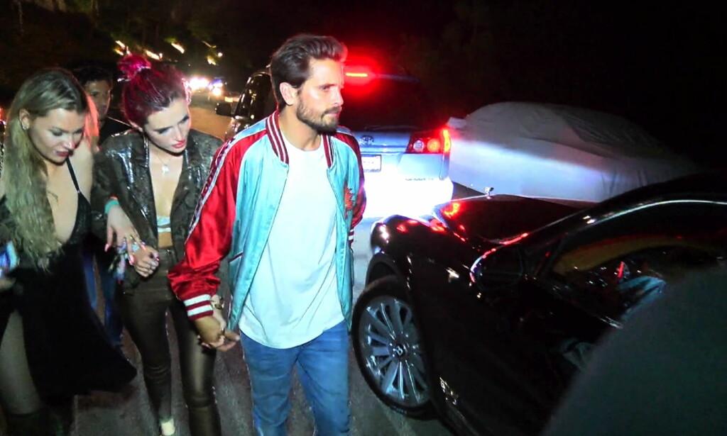 SJOKKPAR: Bella skapte store overskrifter da hun en kort periode datet Kourtney Kardashians ekskjæreste, Scott Disick. Foto: Splash News/ NTB scanpix