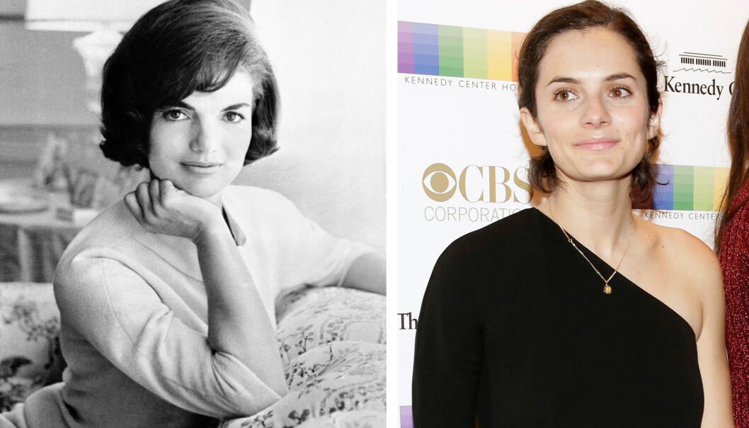 SOM TO DRÅPER VANN: Rose Kennedy Schlossberg (29) og mormor Jacqueline Kennedy Onassis (1929-1994). FOTO: NTB Scanpix