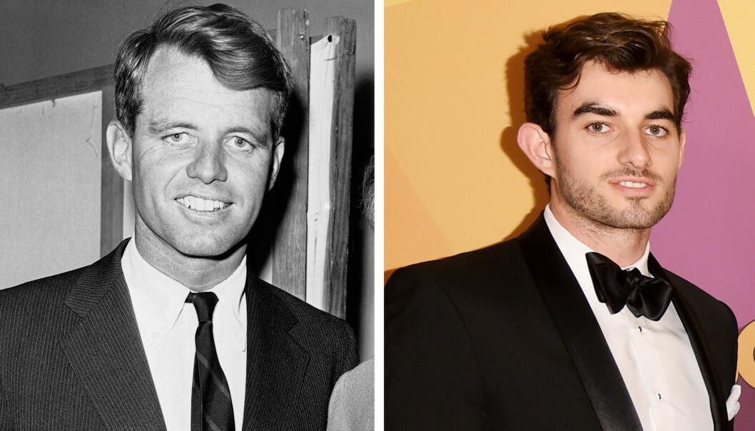 SOM TO DRÅPER VANN: Conor Kennedy (23) og farfar Robert F. Kennedy (1925-1968). FOTO: NTB Scanpix