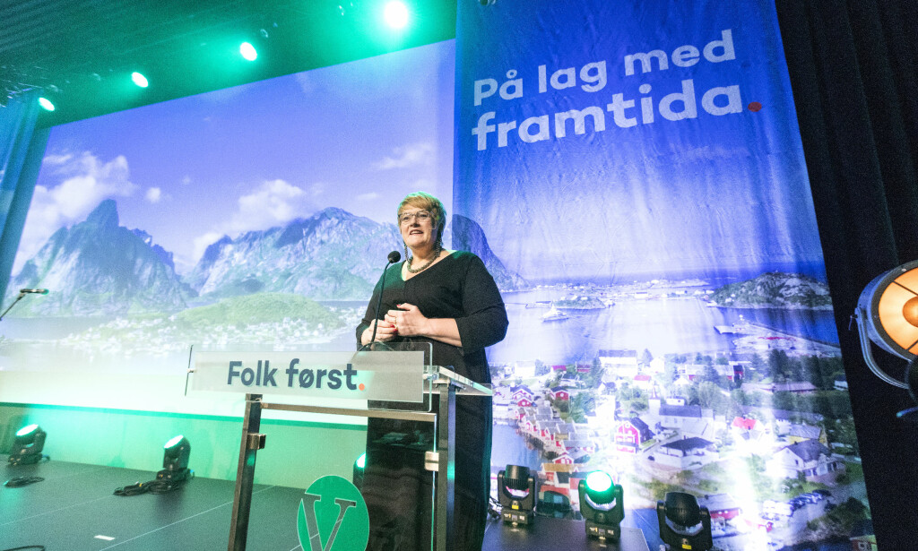 ÅPNET LANDSMØTE: Venstre-leder Trine Skei Grande åpnet i dag Venstres landsmøte på Jessheim. Foto: Gorm Kallestad / NTB scanpix
