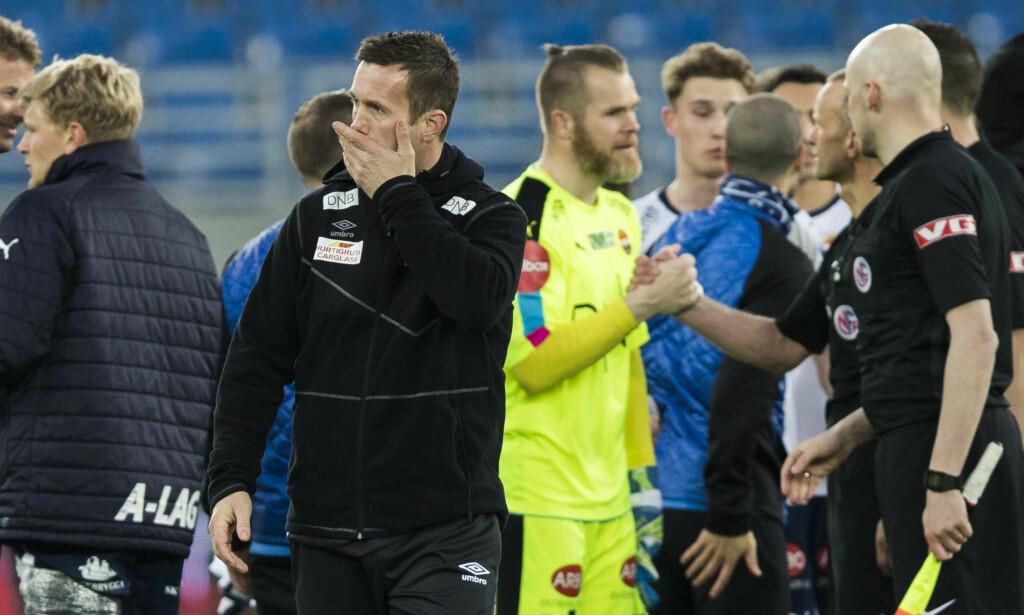 SKUFFET: 1-4-tapet for Strømsgodset sist helg var tungt å svelge for Ronny Deila og Vålerenga. Foto: Berit Roald / NTB scanpix