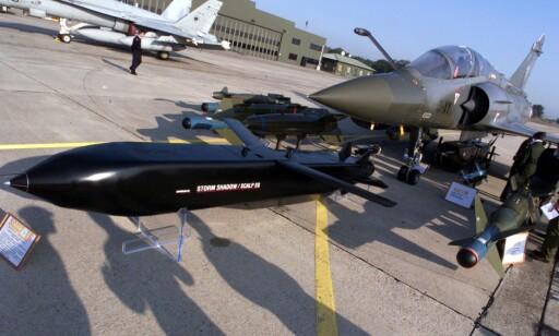 RAKETT: Flere titalls raketter av typen Storm Shadow skal ha blitt sendt under angrepet. Foto: NTB Scanpix