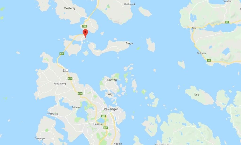 KART: Campingplassen ligger knappe to mil utenfor Stavanger sentrum.