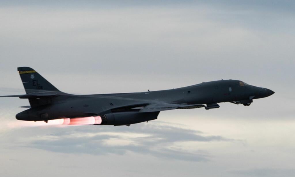 AMERIKANSK: USA skal ha sendt flere bombefly av typen B-1B til Syria. Foto: Reuters / NTB Scanpix