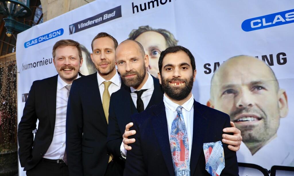 KOMIKERKAMERATENE: Einar Tørnquist, Morten Ramm, Jonas Kinge Bergland og Amir Asgharnejad gledet seg stort til kveldens event. Foto: Tor Lindseth / Se og Hør
