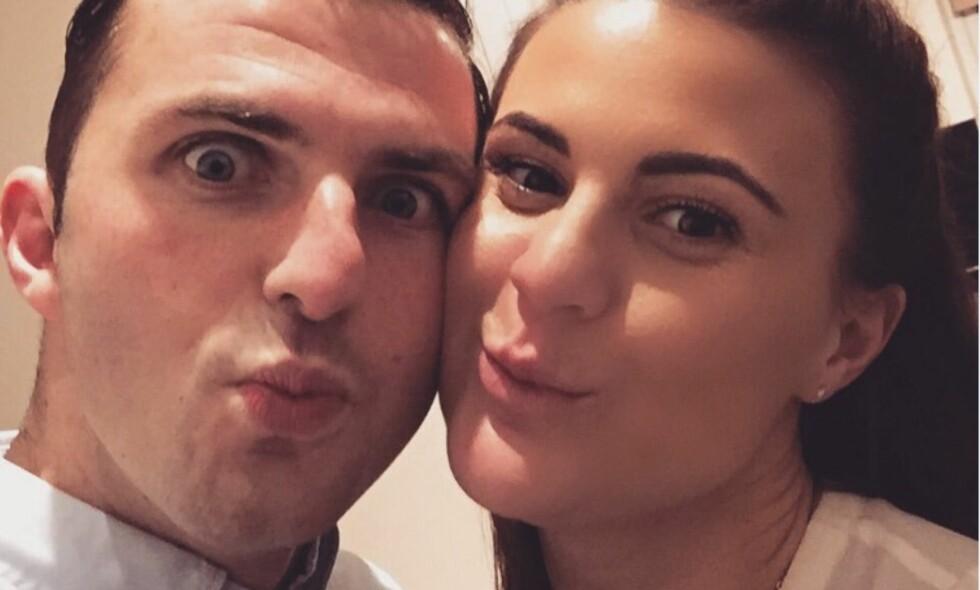 DOMMERPAR: Michael Oliver og kona Lucy er blitt oppsøkt i sitt hjem på bakgrunn av det som skjedde i kampen mellom Real Madrid og Juventus. Foto: Twitter/ LucyOliver_7