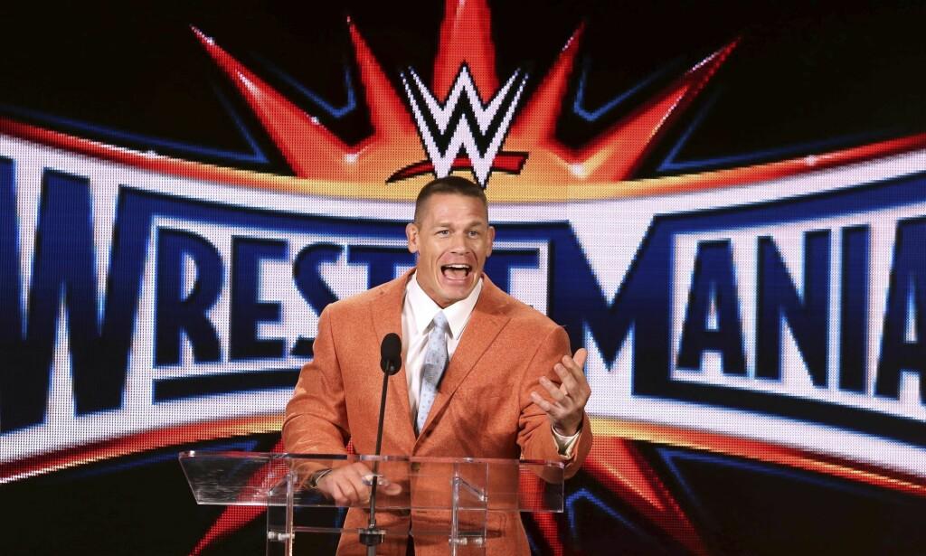 EN AV DE STØRSTE: John Cena har hatt en svært suksessfull karriere, og anses som en av de beste innenfor den voldelige sporten. Foto: Joe Burbank/Orlando Sentinel, NTB scanpix
