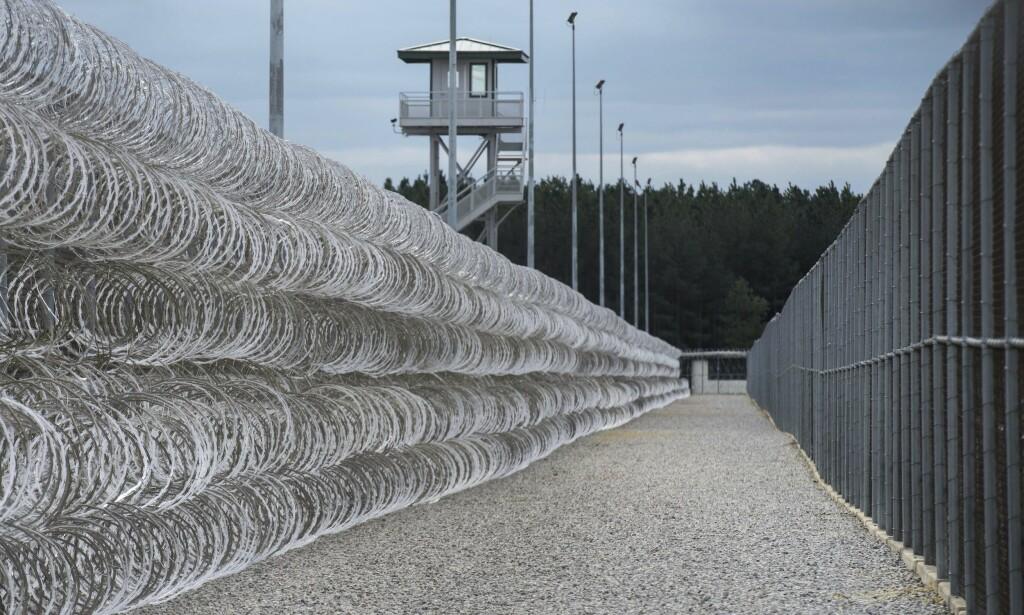 DREPT I FENGSEL: Sju personer ble drept og 17 skadd etter en slåsskamp i et høysikkerhetsfengselet Lee Correctional Institution i South Carolina, i USA. Foto: AP Photo/Sean Rayford