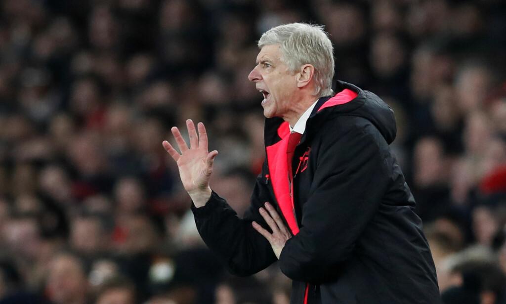 TRÅ SESONG: Arsene Wenger og Arsenal har ikke imponert voldsomt denne sesongen. Nå handler alt om å karre seg til en sjetteplass i ligaen. <br>Foto: David Klein / Reuters