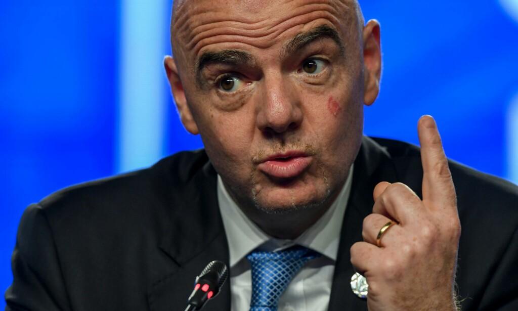 FIFA-PRESIDENT: Gianni Infantino. Foto: NTB scanpix