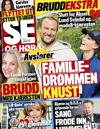 LES MER: I den nyeste utgaven av Se og Hør kan du lese mer om bruddet mellom Janne Formoe og Thomas Grimsgaard.