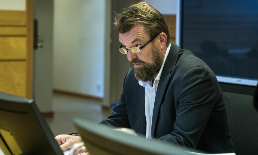I RETTEN: Tidligere fagsjef for kommunikasjon og politikk i NSL, Frode Reppe, vitnet i dag i retten. Foto: Øistein Norum Monsen/Dagbladet.