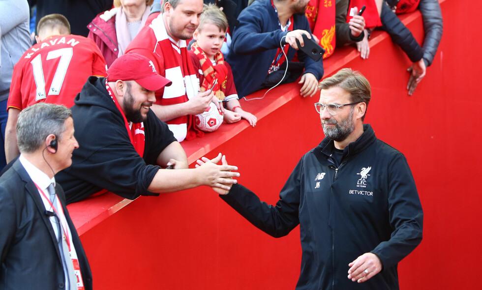KJENT FOR GEGENPRESS: Liverpool-manager Jürgen Klopp. Foto: Philip Oldham/BPI/REX/Shutterstock/NTB Scanpix