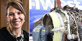 image: Motordel falt av og knuste flyvinduet - Jennifer døde