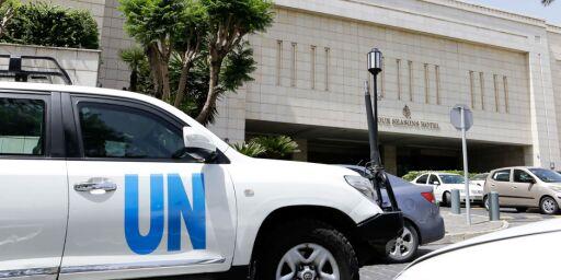 image: Hevder FN-team har blitt skutt på i Syria-etterforskning