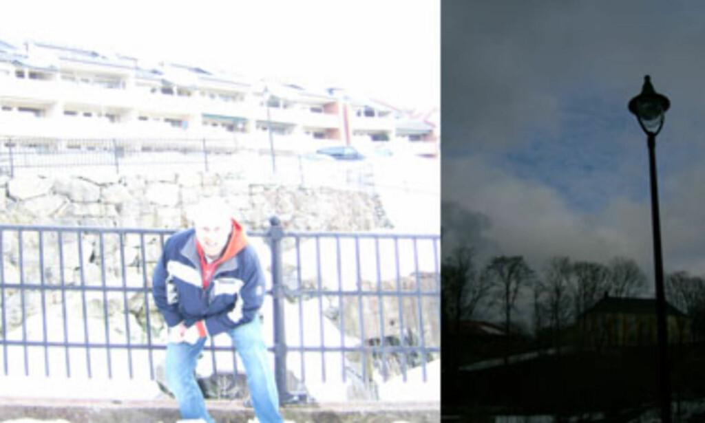 Disse to bildene ble tatt midt på dagen med et par minutters mellomrom. Kameraet som ble brukt var et rimelig 8Mp-kamera som var på tilbud hos Coop til 1.500 kroner i 2006. Et godt eksempel på at megapiksler ikke er alt.