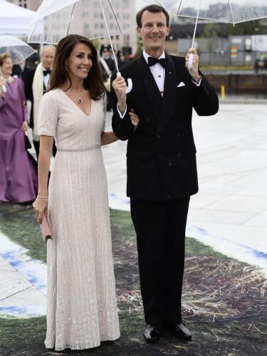 I NORGE: Prinsesse Marie og prins Joachim avbildet sammen i Oslo i mai i fjor, i anledning vårt eget kongepars 80-årsfeiring. Foto: Jon Olav Nesvold / NTB Scanpix