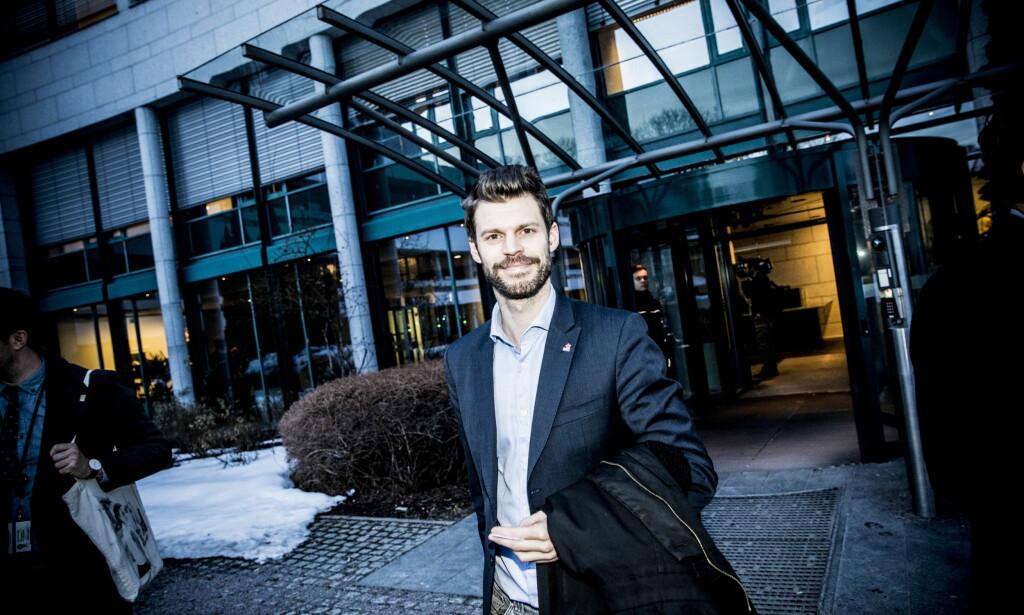 LEDER: Rødt-leder Bjørnar Moxnes utenfor NRK sine lokaler tidligere i år. Foto: Christian Roth Christensen / Dagbladet
