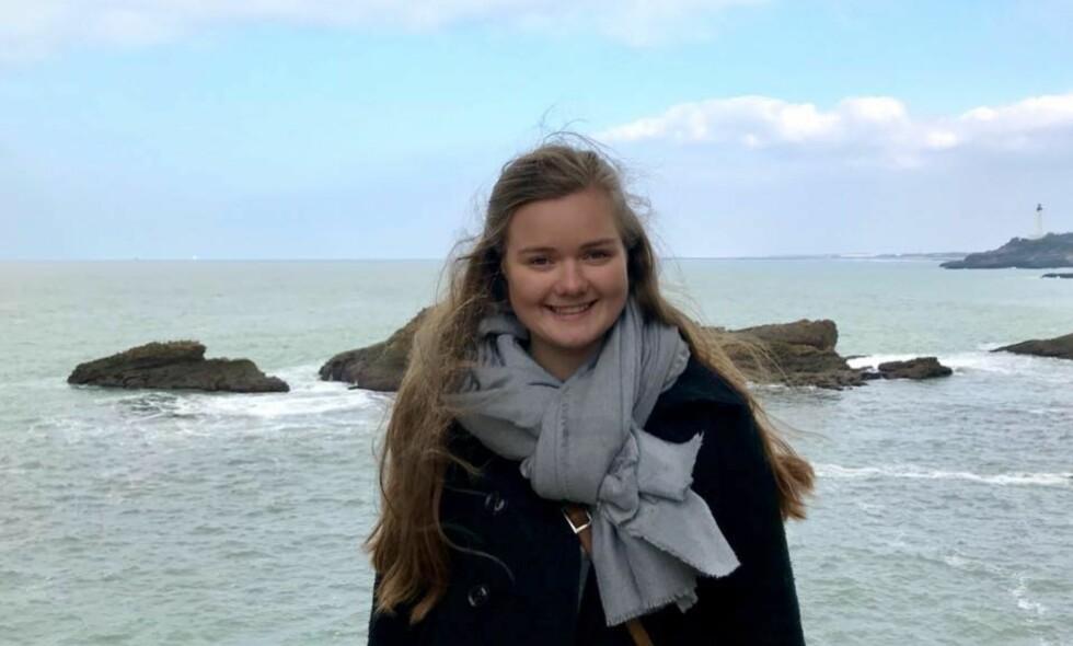 SAVNET: Marie Sæther Østbø (20) ble sist sett av venner i går kveld da de gikk en tur på stranda. Siden har det vært en stor leteaksjon etter den norske studenten. Foto: Privat