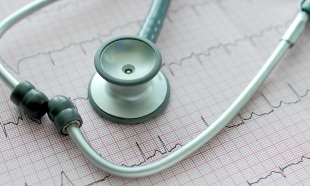 FORANDRET HJERTERYTME: En EKG-undersøkelse kan påvise hjerteflimmer. Foto: NTB Scanpix/Shutterstock.