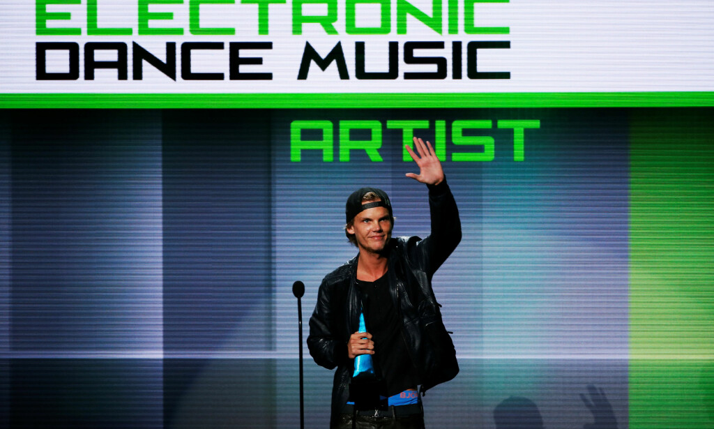 PRISVINNER: Her mottar Avicii pris under American Music Awards i Los Angeles i 2013. Foto: NTB Scanpix
