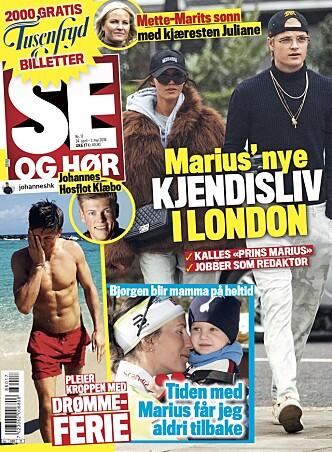 I SALG TIRSDAG: Se de eksklusive bildene av Marius og kjæresten i London, og les alt om saken i ukens nummer av Se og Hør. Foto: Faksimile