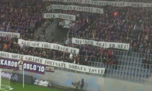 image: Fotballforbundet sender Klanens bannerstunt til påtalenemnda