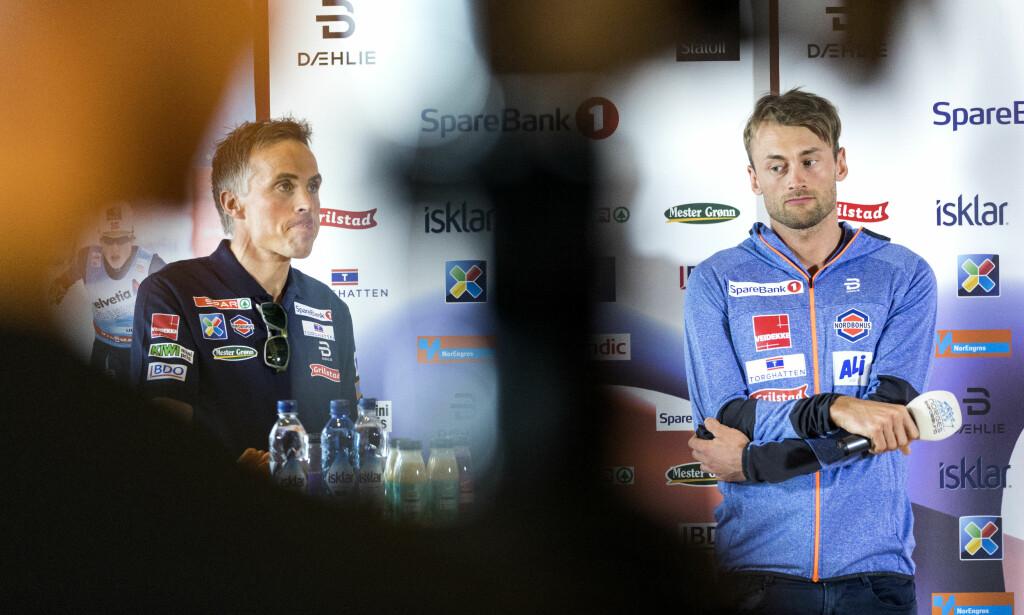 GJENFORENT: Konflikten mellom Vidar Løfshus og Petter Northug virket uoppløselig. Nå er de igjen samarbeidspartnere.  Foto: Gorm Kallestad / NTB scanpix