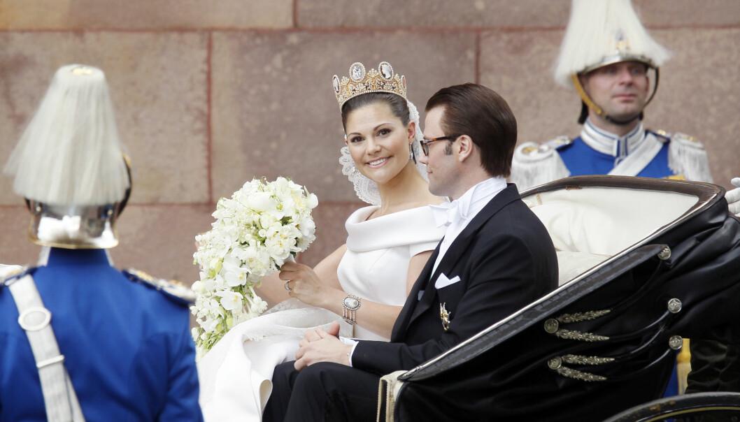 VAKKER: Kronprinsesse Victoria og Daniel giftet seg 19. juni 2010. FOTO: NTB Scanpix