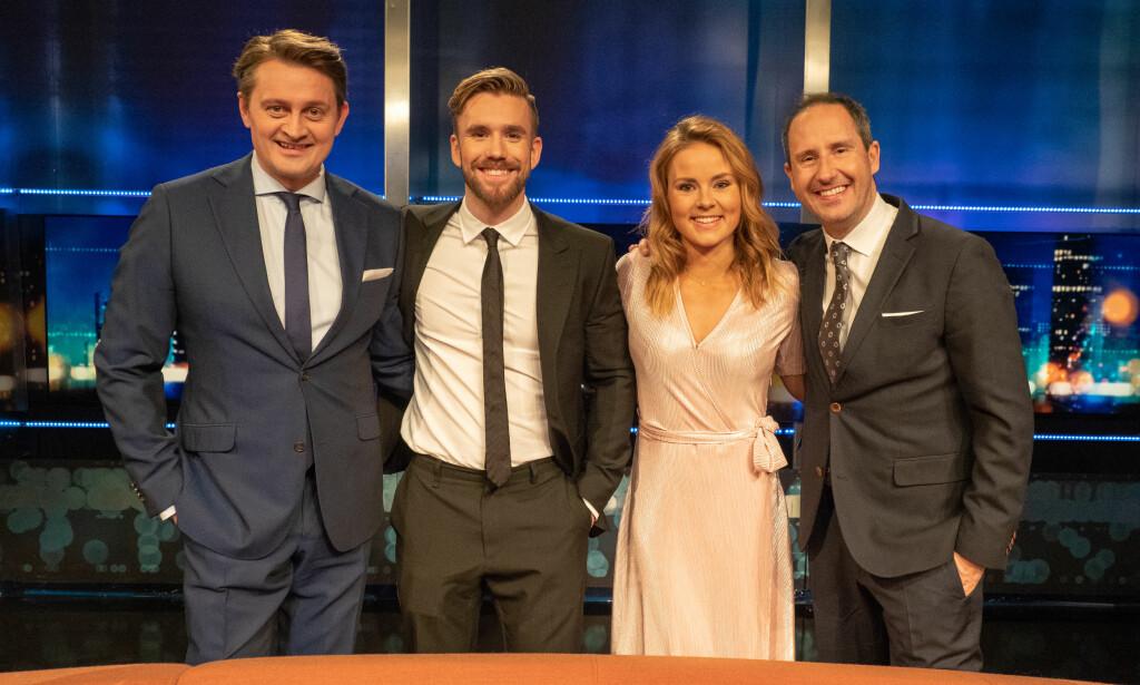 OVERTAR: Stian Blipp og Helene Olafsen blir «Senkvelds» nye programledere fra høsten av. Foto: TV 2.