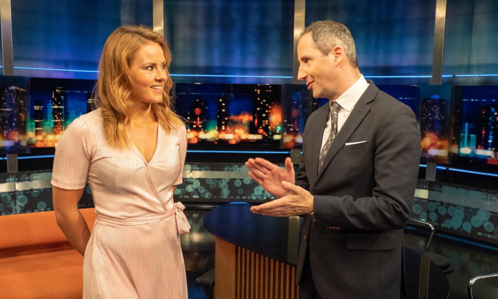 SPENT: Helene inrømmer at hun er spent på å overta rollen som programleder etter Thomas og Harald. Foto: TV 2.